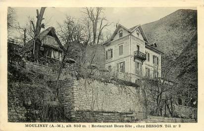 """CPA FRANCE 06 """"Le Moulinet, Restaurant Beau Site, chez Besson"""""""