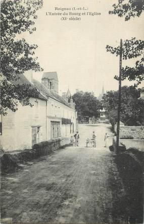 """.CPA FRANCE 37 """"Reignac, Entrée du  bourg et l""""église"""""""