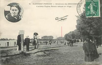 """CPA AVIATION / FRANCE 63 """"Clermont Ferrand, aérodrome des Gravanches, aviateur E. Renaux"""""""