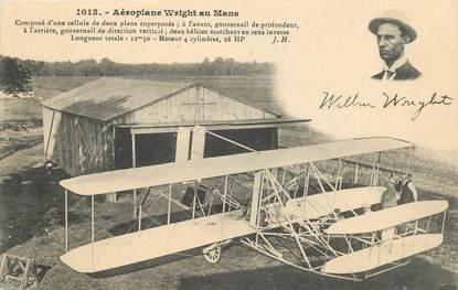 "CPA AVIATION ""Aéroplane Wright au Mans"""