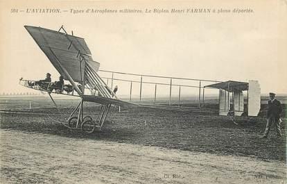 "CPA AVIATION ""Le Biplan Henri Farman"""