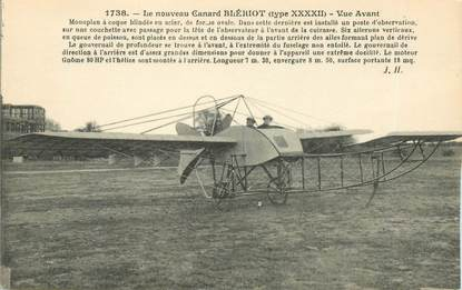 "CPA AVIATION ""Le nouveau Canard Blériot, monoplan"""