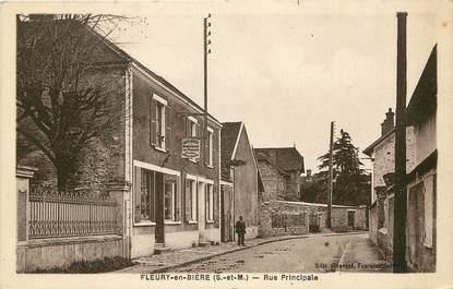 """CPA FRANCE 77 """"Fleury en Bière, Rue Principale"""""""