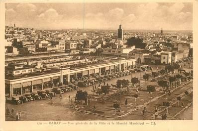 """CPSM MAROC """"Rabat, vue générale de la ville et le marché"""""""