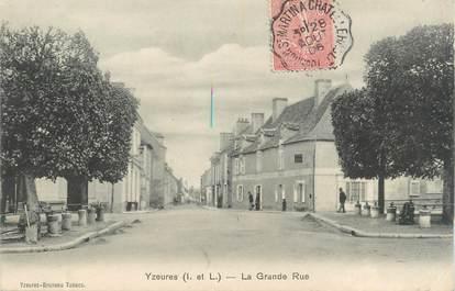""".CPA  FRANCE 37 """"Yzeures, La Grande Rue"""""""