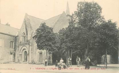 ".CPA  FRANCE 37 ""Vernou, L'église"""
