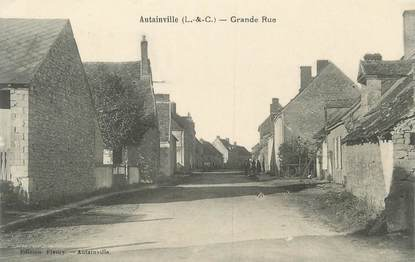 ".CPA  FRANCE 41 ""Autainville, Grande Rue"""