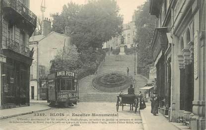 ".CPA FRANCE 41 "" Blois, Escalier monumental""/TRAM"