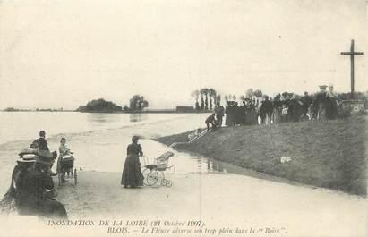 """.CPA FRANCE 41 """" Blois, Crue de la Loire 21 octobre 1907 """"/INONDATIONS"""