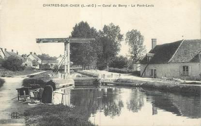 """.CPA FRANCE 41 """" Chatres sur Cher, Canal du Barry Le pont levis"""""""