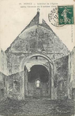 """.CPA FRANCE 41 """"Morée, Eglise après incendie du 03.10.1906"""""""