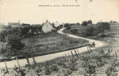 """.CPA FRANCE 41 """"Orchaise, Route de St Lubin"""""""