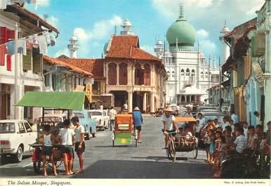 """CPSM SINGAPOUR """"La Mosquée"""""""