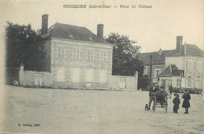 """.CPA FRANCE 41 """"Oucques, Place du château"""""""