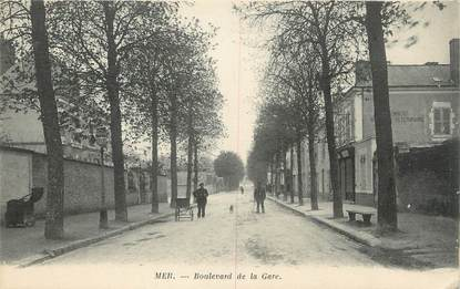 """.CPA FRANCE 41 """"Mer, Boulevard de la Gare"""""""