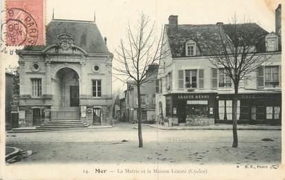 """.CPA FRANCE 41 """"Mer, La Mairie et la Maison Léauté"""""""