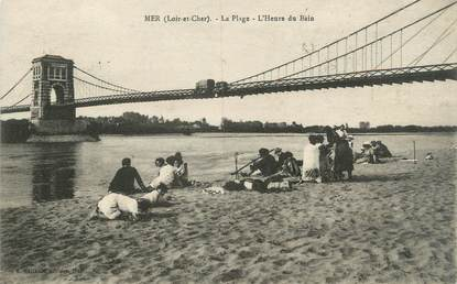 ".CPA FRANCE 41 ""Mer, La plage"""