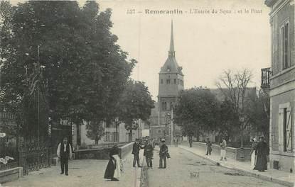 """.CPA FRANCE 41 """"Romarantin, Entrée du square et le pont"""""""
