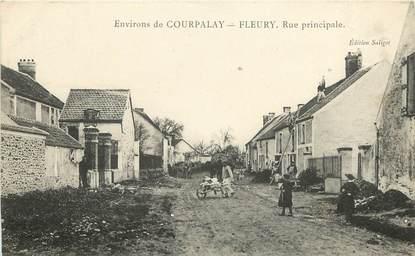 """CPA FRANCE 77 """"Env. de Courpalay, Fleury rue Principale"""""""