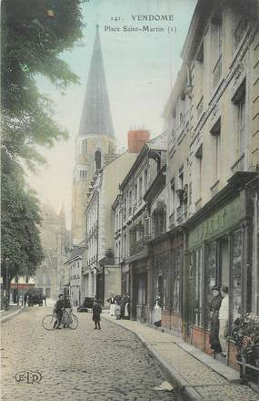 ".CPA  FRANCE 41 ""  Vendome, Place St Martin"""