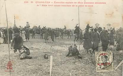 """CPA VIETNAM """"Quang Yen, Exécution capitale de deux assassins annamites, 1905"""""""