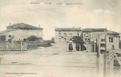 """.CPA FRANCE 42 """" Bonson, Passage à niveau, quartier de la gare"""""""