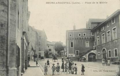 """.CPA FRANCE 42 """" Bourg Argental, Place de la Mairie """""""