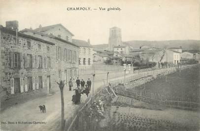 """.CPA FRANCE 42 """"Champoly, Vue générale"""""""
