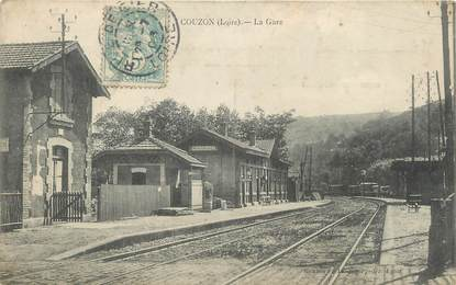 ".CPA FRANCE 42 ""Couzon, La gare"""