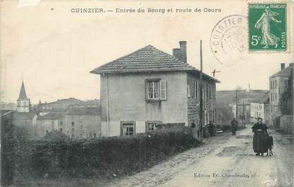 """.CPA FRANCE 42 """"Cuinzier, Entrée du bourg"""""""