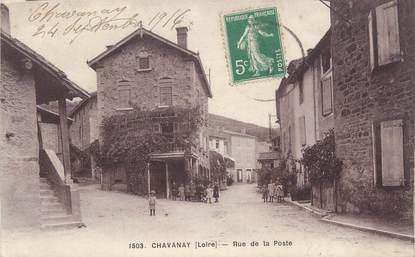 """.CPA FRANCE 42 """"Chavanay, Rue de la Poste"""""""