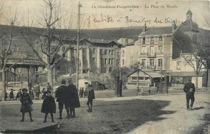""".CPA FRANCE 42 """"Le Chambon Feugerolles, Place du marché"""""""