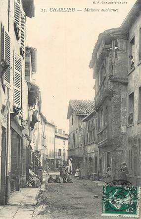 """.CPA FRANCE 42 """"Charlieu, Maisons anciennes"""""""