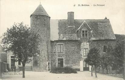 """.CPA FRANCE 72 """"Brûlon, Le prieuré"""""""