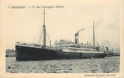 """CPA  BATEAU / PAQUEBOT / COMMERCE """"La DESIRADE"""" / Cie des Chargeurs réunis"""