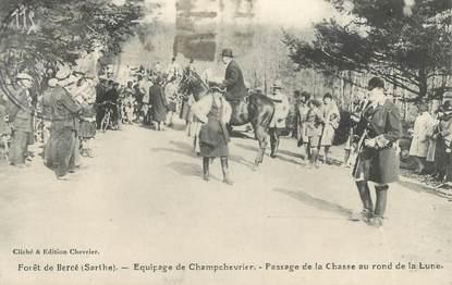 """.CPA FRANCE 72 """"Forêt de Bercé, Equipage de Champchevrier"""""""