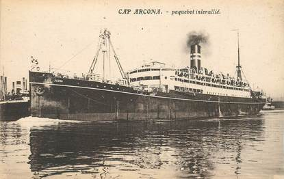 """CPA  BATEAU / PAQUEBOT / COMMERCE """"Le Cap Arcona"""""""