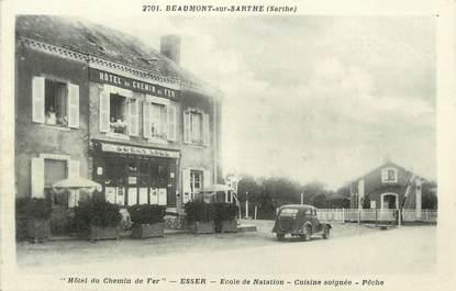 """.CPA FRANCE 72 """"Beaumont sur Sarthe, Hôtel du chemin de fer"""""""
