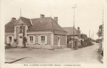 """.CPA FRANCE 72 """"La Chapelle Saint Rémy, Le bureeau de Poste"""""""