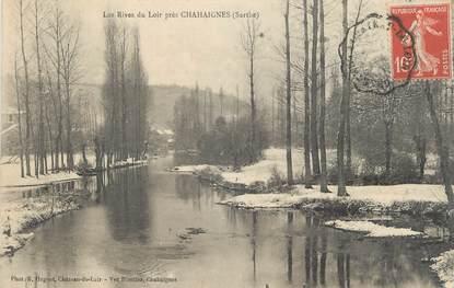 ".CPA FRANCE 72 ""Chahaignes, Les rives du Loir"""