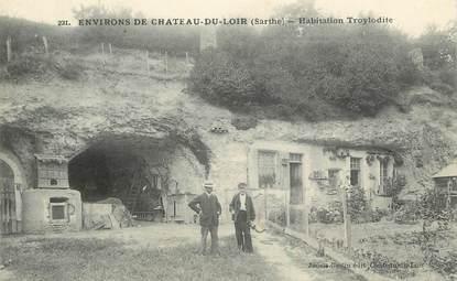 """.CPA FRANCE 72 """"Château du Loir, Habitations troglodytes"""""""