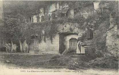 """.CPA FRANCE 72 """"La Chartre sur le Loir, Caves dans le Roc"""""""