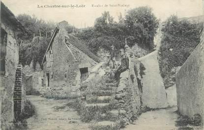 """.CPA FRANCE 72 """"La Chartre sur le Loir, Escalier de St Vincent"""""""
