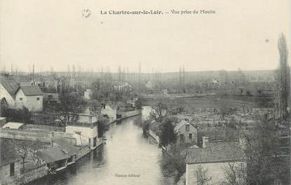 """.CPA FRANCE 72 """"La Chartre sur le Loir, Vue prise du Moulin"""""""
