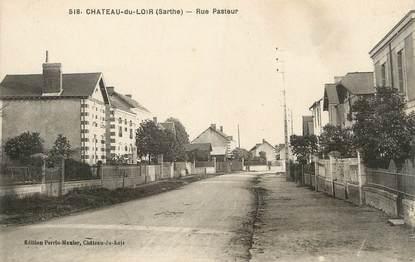 """.CPA FRANCE 72 """"Château du Loir, Rue Pasteur"""""""