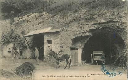 """.CPA FRANCE 72 """"Château du Loir, Habitations dans le roc """""""