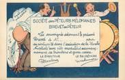 """Theme CPA HUMOUR """"Société des  Pêteurs mélomanes, Brevet de Pêteur"""""""