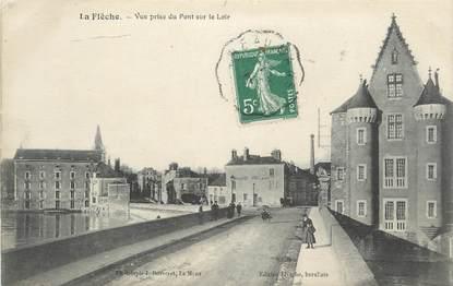 """.CPA FRANCE 72 """"La Flèche, Vue prise du pont sur le Loir"""""""
