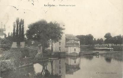""".CPA FRANCE 72 """"La Flèche, Moulin sur le Loir"""""""