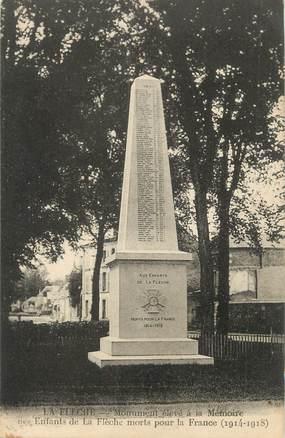""".CPA FRANCE 72 """"La Flèche, Monument aux morts"""""""